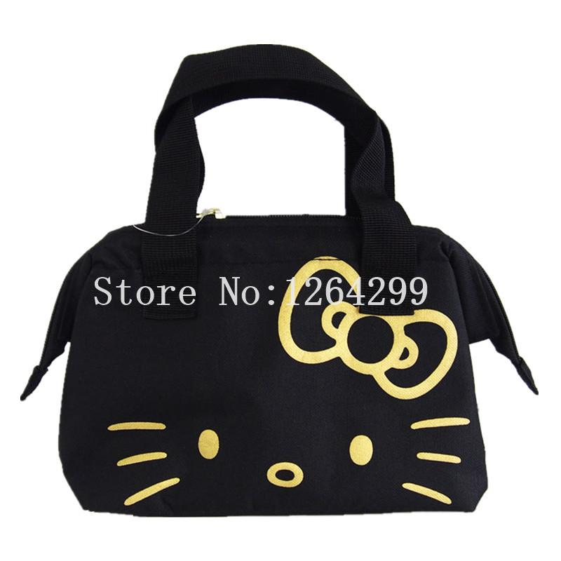 04ff00ce0 New Fashion Hello Kitty Girls Woman Oxford Aluminum Foil Theraml Cooler  Lunch Bags Kids Handbags For Children Purse Organizer Insert White Handbags  From ...