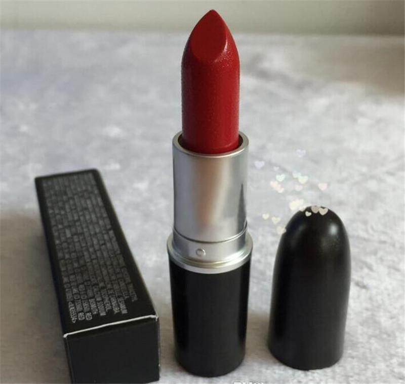 High quality Makeup Matte Lipstick Batom Fosco Rouge Lipstick 3g Luster Frost Lipsticks M Brand Cosmetics