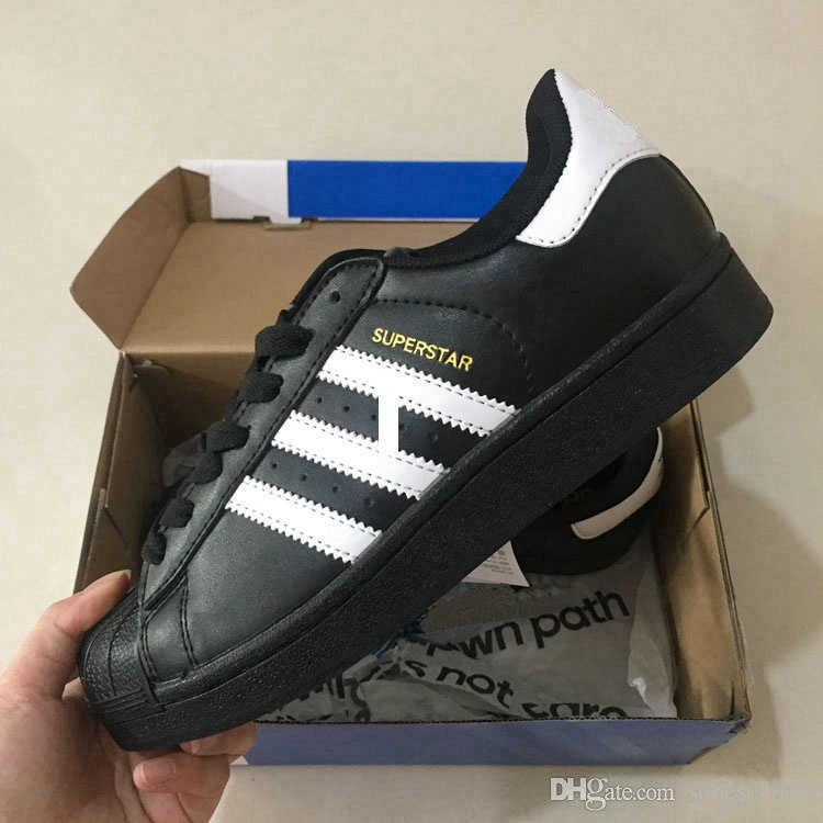 brand new b5cb6 bb6f8 Großhandel Adidas Superstar Adidas Boost Supreme Off White Superstar  Original White Hologramm Schillernden Junior Gold Superstars Turnschuhe Originals  Super ...