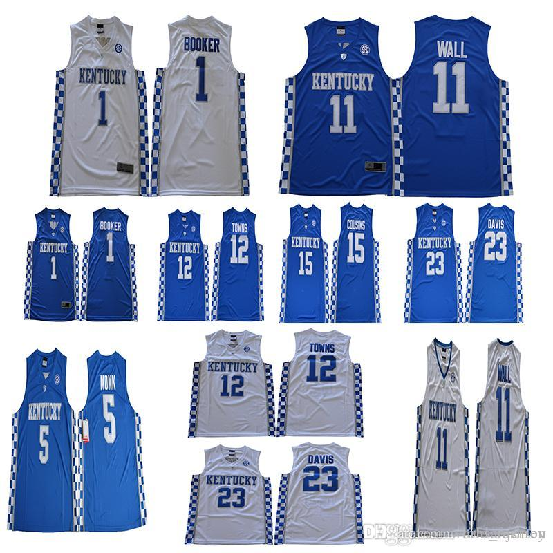 5f006ec7f6a ... real kentucky wildcats jerseys 15 demarcus cousins 11 john wall 23  anthony davis 1 booker 12