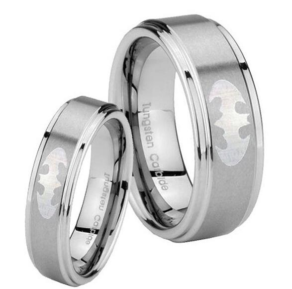 Wholesale MenS Ring Hot Sales 8mm Silver Step Brushed Top Super