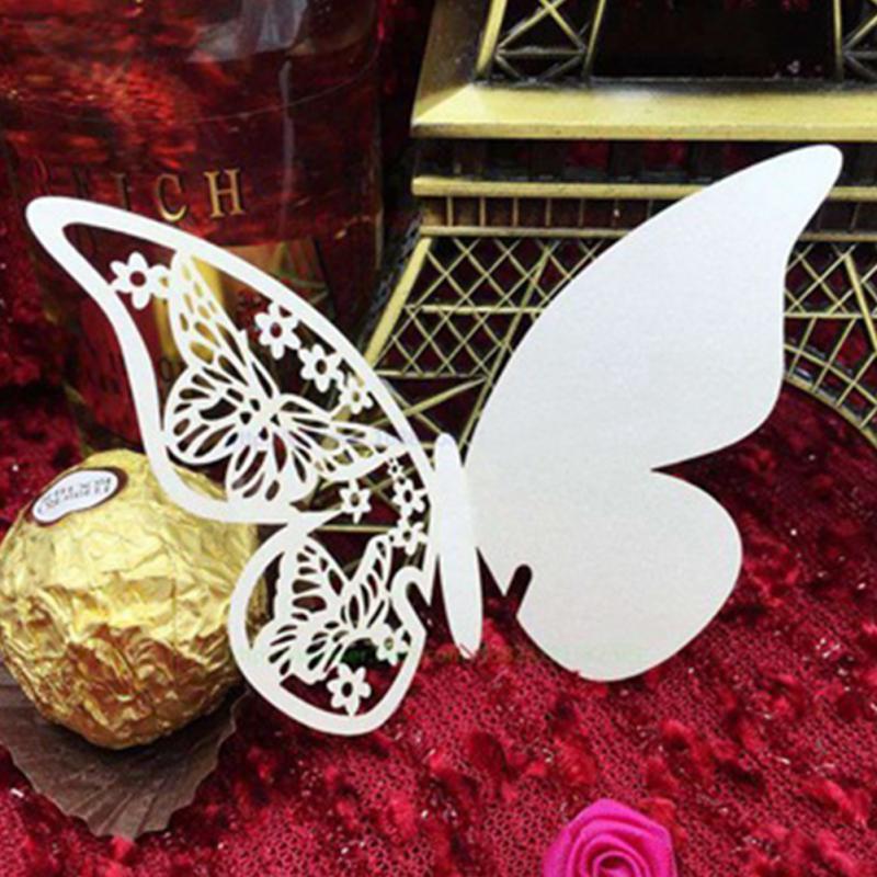 Großhandel Tabelle Elegante Aushöhlen Perlglanzpapier Schmetterling ...