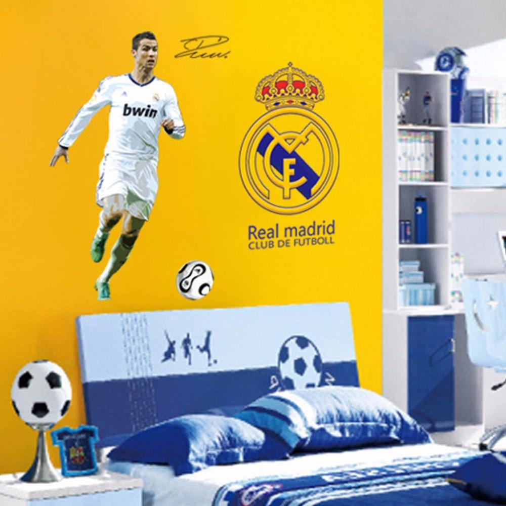 Pack C Ronaldo Real Madrid Wall Sticker Decor Soccer Football Boy ...