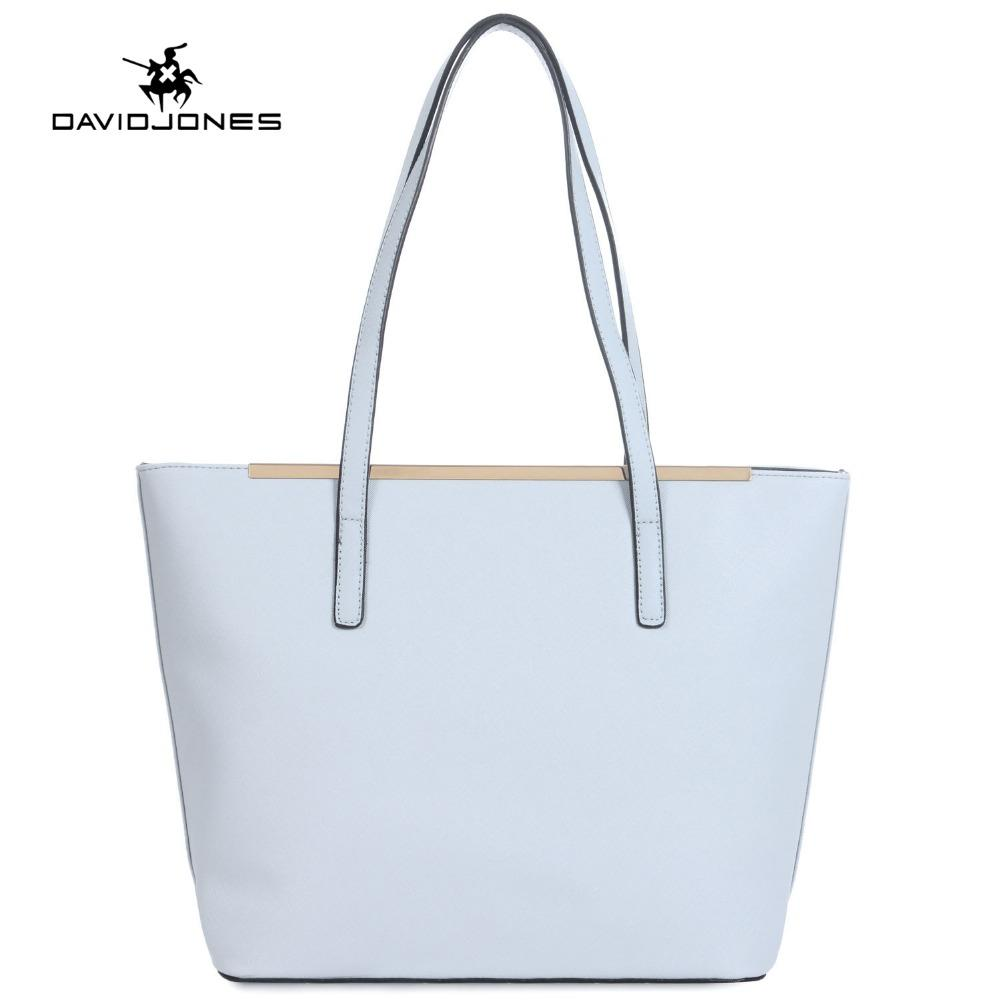 bcc5dd2885b7 DAVIDJONES Tote Bag Women Female PU Shoulder Bags Handbag Top Handle Handbag  Bolsa Feminina Bolso Mujer Sac A Main Tassen Wholesale Purses White Handbags  ...