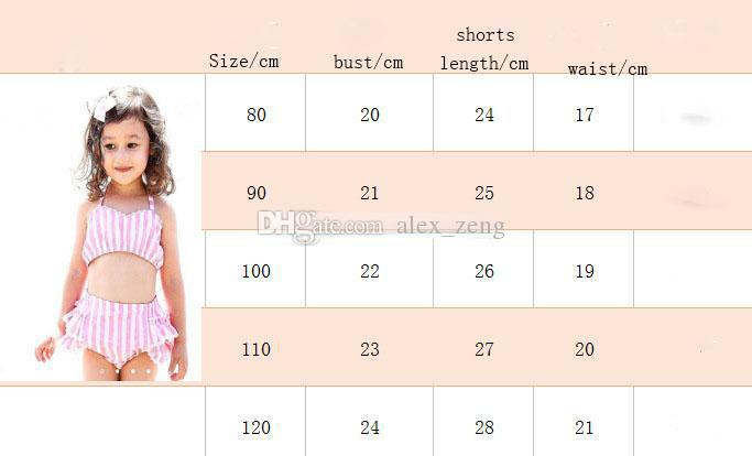 2018 Summer Hot Sell Baby girls Striped Swimsuit Kids Bikini Swimwear girls Bikinis children Clothing