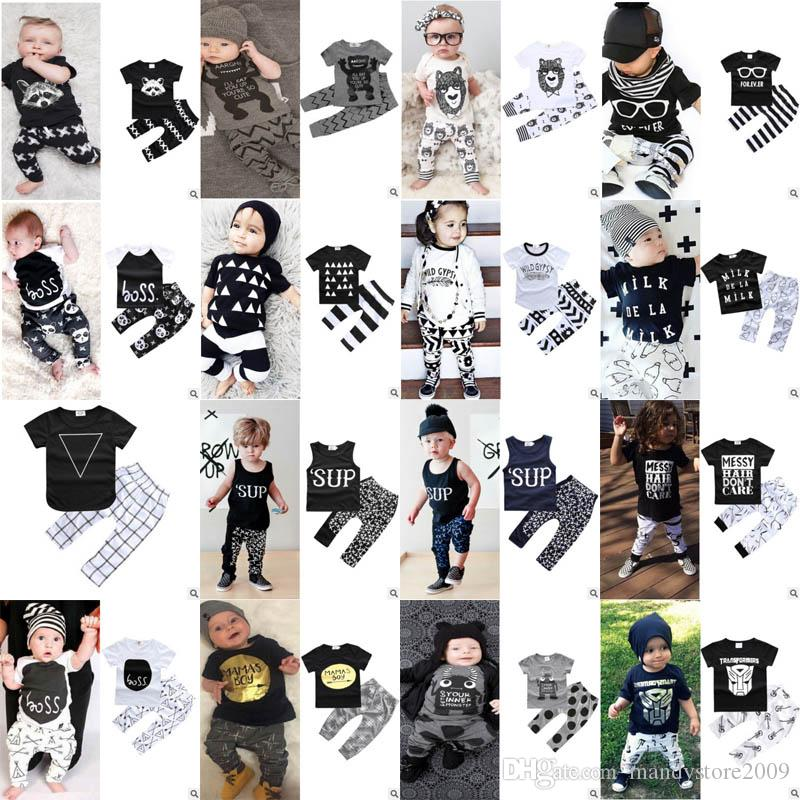 ab8ad869d Baby Suits 36 Styles Baby Boys Girls Floral Print Suits Infant ...
