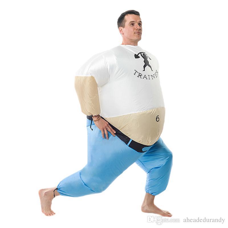 Traje inflable de Halloween para adultos volar traje personal traje divertido traje inflable vestido de lujo gordo hombre mantenerse en forma