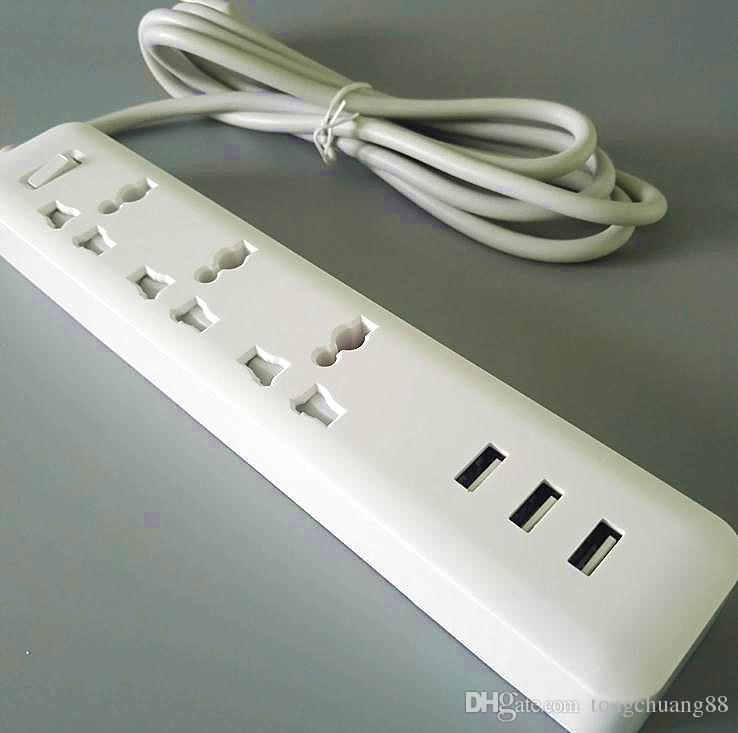 Оптовая Power strip quick charge 3 USB разъем расширения с розеткой стандартный разъем питания доска 10A 250V 2500W