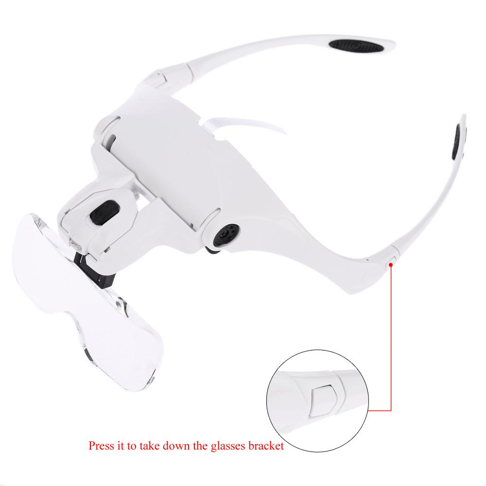 Freeshipping Magnifying glasses lupa relojero Magnifiers lupas de aumento loupe glass lente ingrandimento magnifier lamp led helping hand