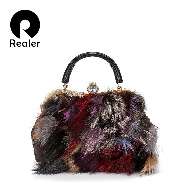 Wholesale Women Handbags Real Fur Messenger Shoulder Bags Genuine Leather  Ladies Top-handle Bag Fashion Crossbody Bags Female Online with   148.38 Piece on ... 3f4263733750a