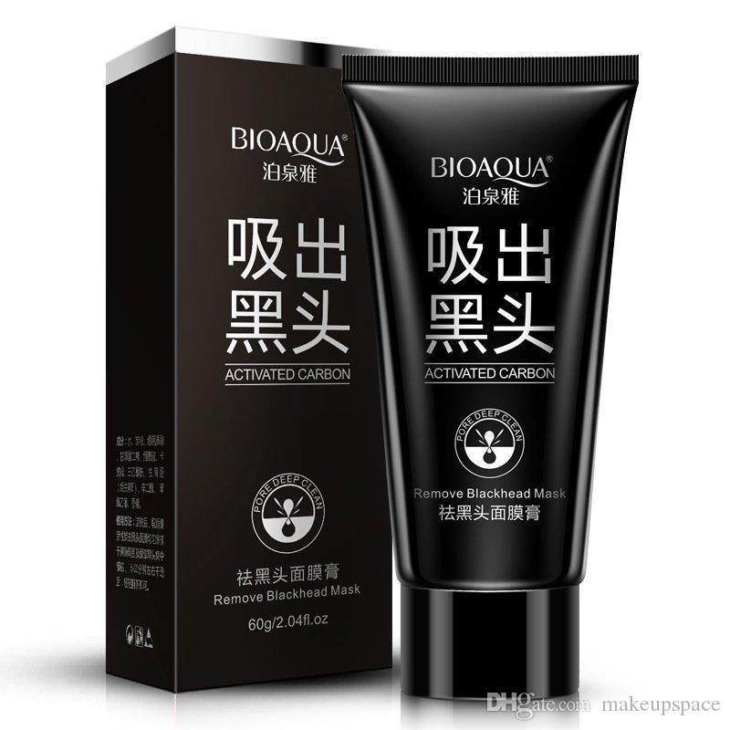 BIOAQUA Facial Blackhead Remover Deep Cleaner Mask Nose Mask Suction Anti Acne Treatments Black Head Mask 60g