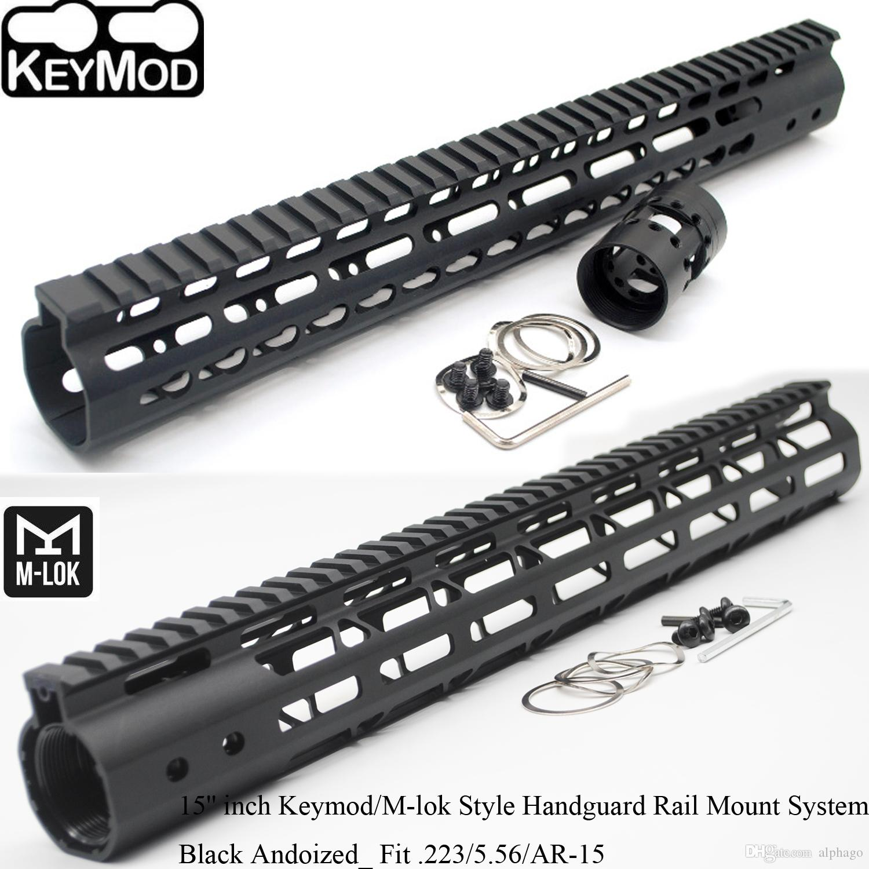 2019 15 Inch Black Anodized Keymodm Lok Style Handguard Rail Free