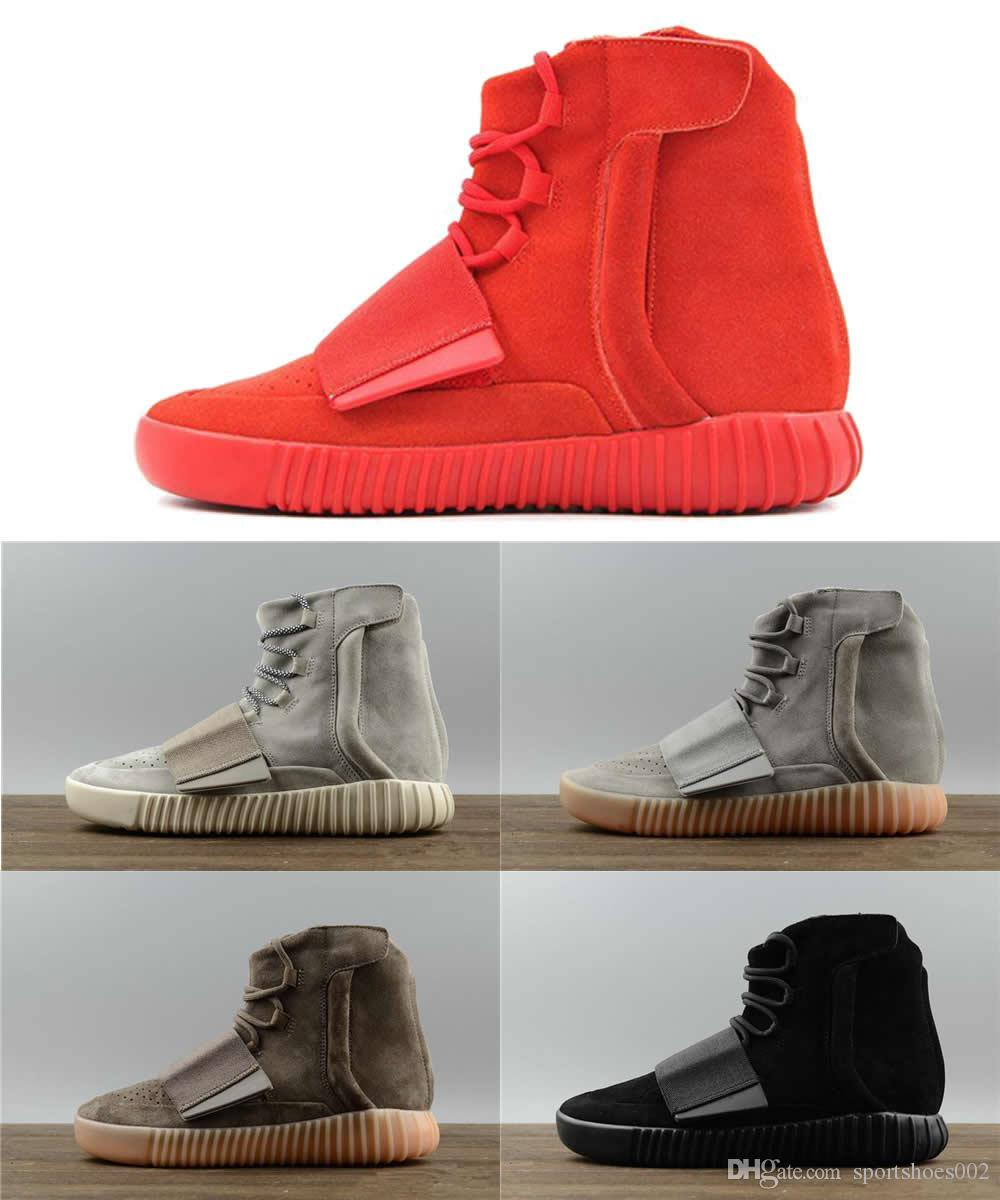 a3cef8f75 Bottes d'hiver des hommes chauds Kanye West 750 chaussures de designer 750  bottes hommes chaussures loisirs jogging chaussures de sport femmes bottes  ...