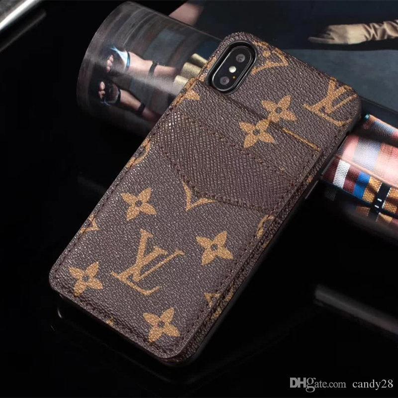 e8fa009038e5 Luxury Phone Case For Iphone X XS XR Xs Max 7 7plus 8 8plus Card Holder  Leather Phone Case For S8 S9 Plus S10 PlusNote9 Designer Phone Case Phone  Cover ...