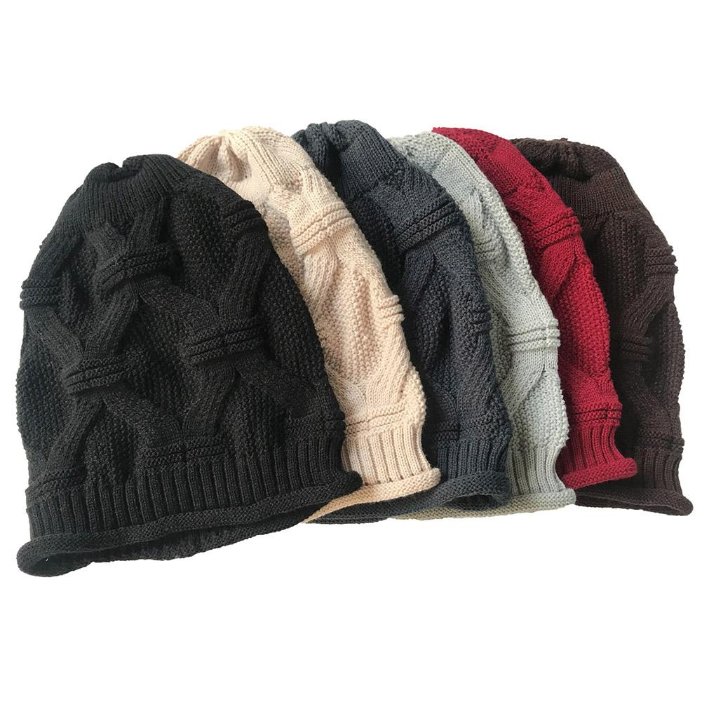 cbf5003c4af YJSFG HOUSE Winter Hats For Women Men Knitted Caps Woolen Hat Casual ...