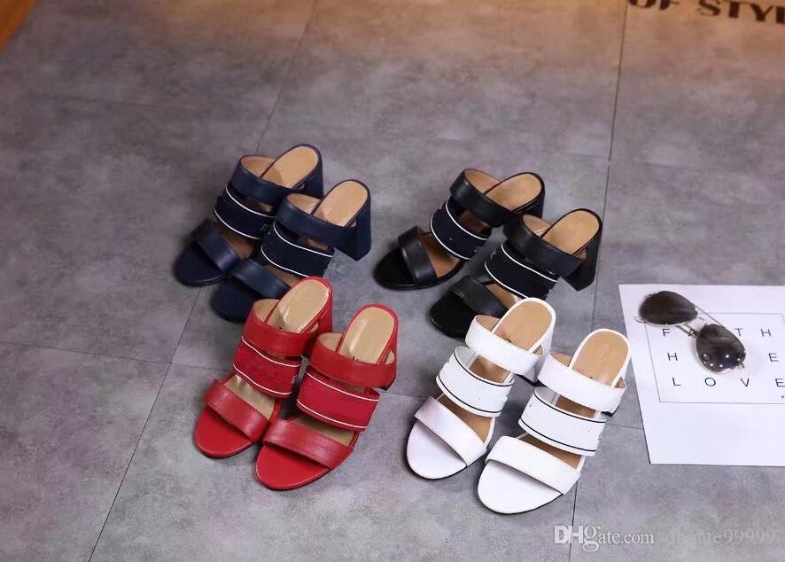 67cd6e23be2b TOP QUALITY Canvas LEATHER WOMEN S HIGH HEELS DRESS SHOES SANDALS MULES  SLIDES SLIPPER SANDAL PUMS DRESS SANDALS ANKLE BOOT Leather Loafer Red  Wedges Summer ...