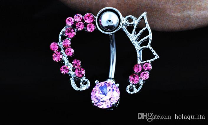 Pezón Piercing Moda Piercing del cuerpo Gema Pavimentado Círculo Shield Piercing Anillos Joyería del cuerpo para mujeres Niñas