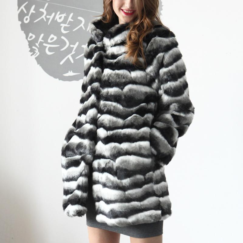 11e863040f Naiveroo inverno caldo cappotto di pelliccia sintetica donne strisce Slim  addensare inverno oversize cappotto lunghe giacche pelose parka tuta ...