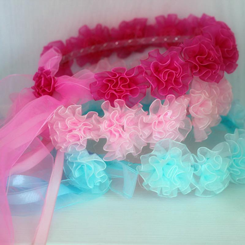 Mixed Colors Girls Wedding Flowers Wreath Birthday Party Headband