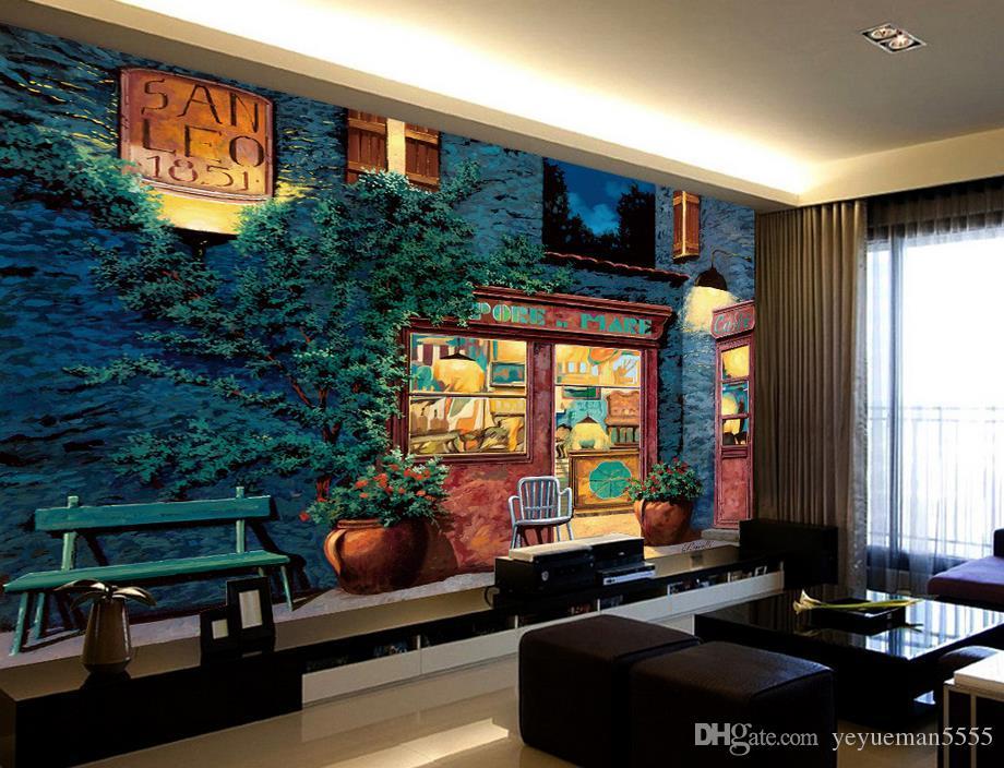 gro handel neue chinesische 3d tapete wohnzimmer architektur blume foto wandmalereien drucken. Black Bedroom Furniture Sets. Home Design Ideas