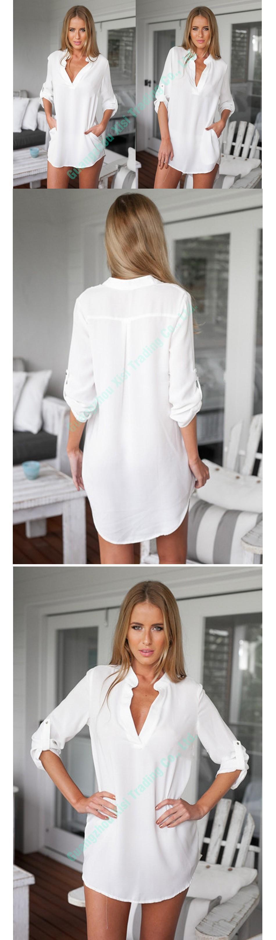 Womens tops ve bluzlar 2016 beyaz uzun kollu gömlek kadın 2016 artı boyutu kadın gömlek sonbahar kış bluzlar ve gömlekler boyutu 5xl