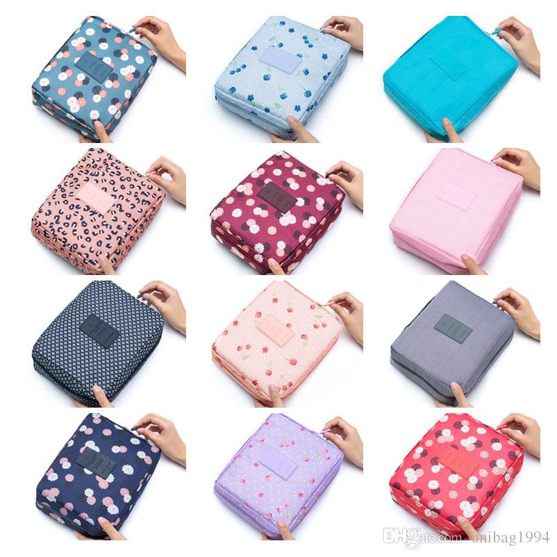 df1d77001042 Newest Women Floral Travel Makeup Bag Toiletry Multifunction Organizer  Waterproof Portable Fashion Cosmetic Bags Storage Cases