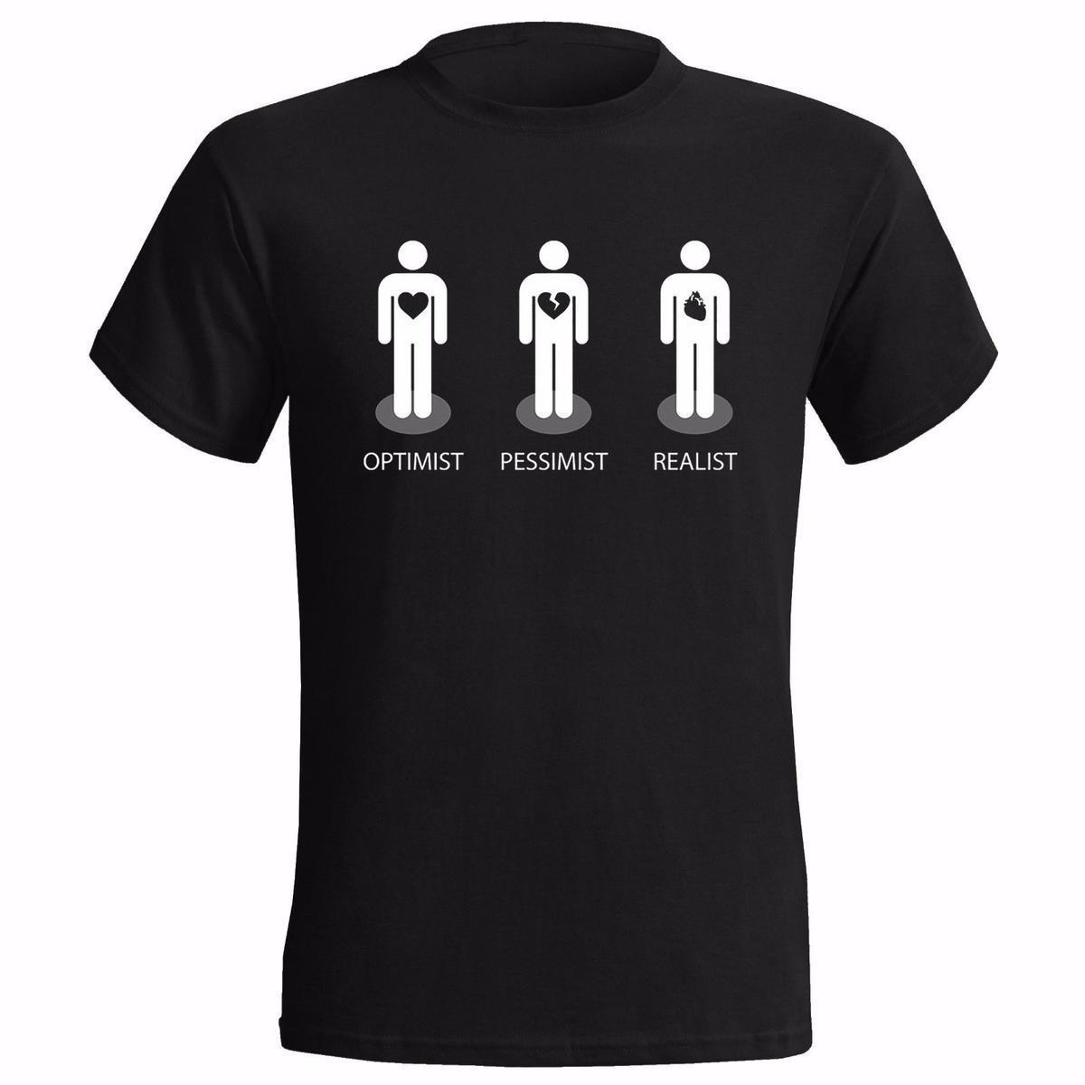 5d7a8a0a13 OPTIMIST PESSIMIST REALIST MENS T SHIRT RELATIONSHIP MOOD SCIENCE  SCIENTIIFIC Tshirt Hot New Fashion Top Shirts Fitted Shirts T Shirt Sale  From ...
