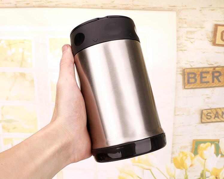 Garrafa térmica do alimento 500ml Garrafa térmica isolada do vácuo da cozinha tumbler 17oz Parede dupla inoxidáveis fogão térmico da lancheira