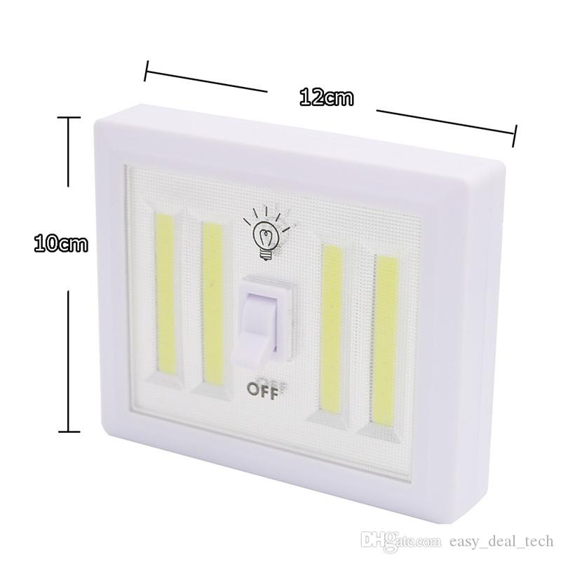 4*COB LED Wireless Night Light Switch Wall Lamp Battery Operated Kitchen Cabinet Garage Closet Camp Emergency Lamp with Magnetic Q0399