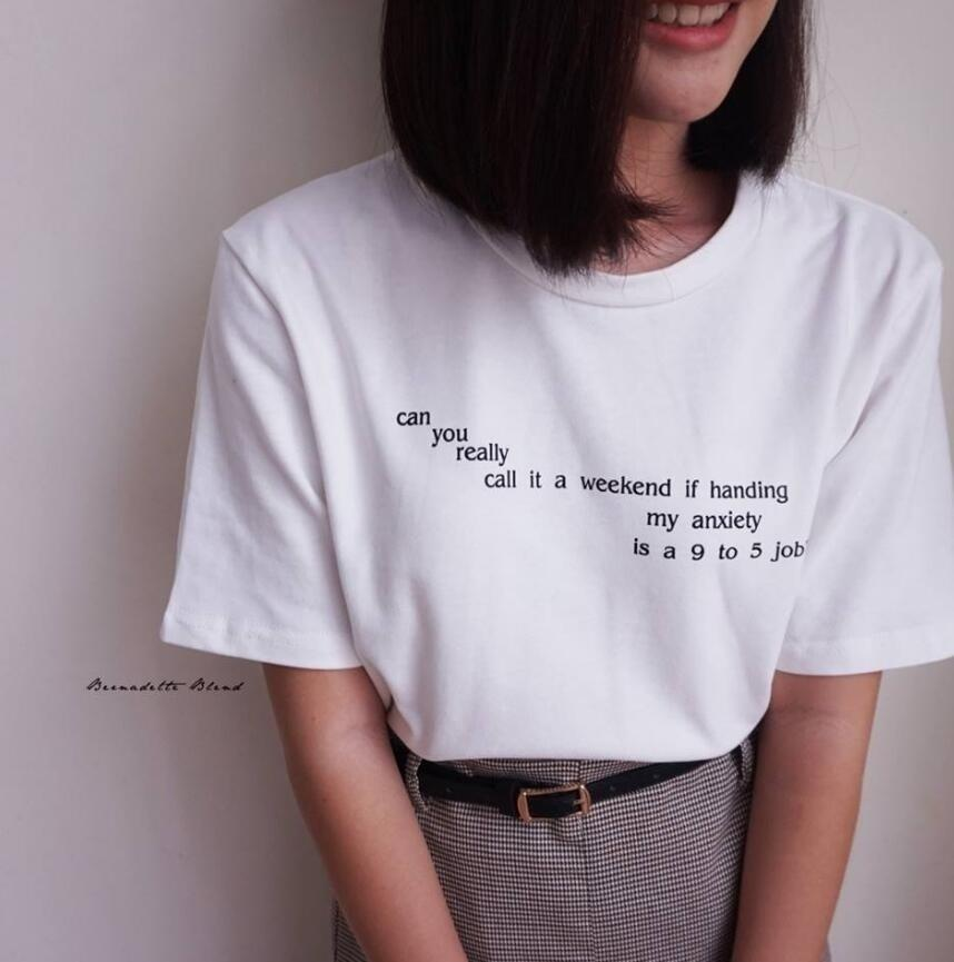 Hahayule Summer Women Korean Fashion Ulzzang Tee Can You Really Call