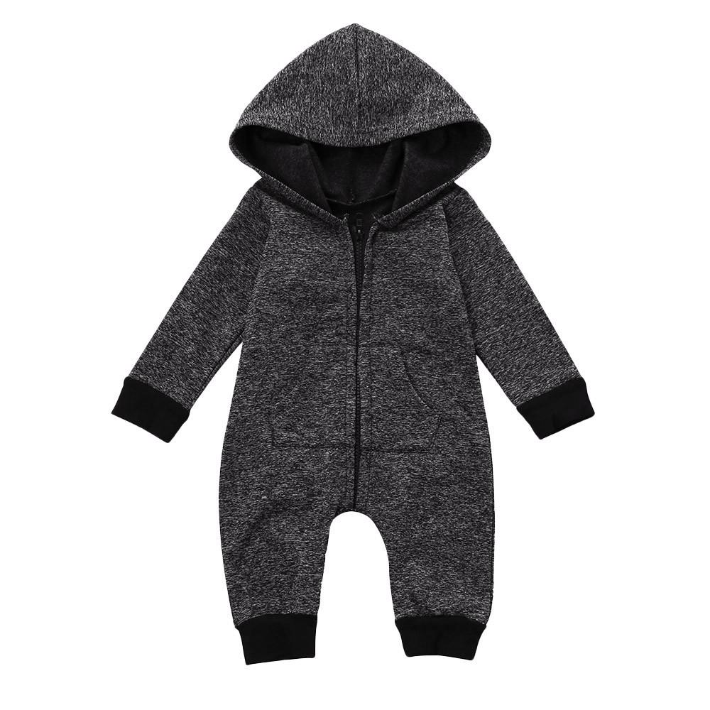 77a705f9b52a 2019 Newborn Infant Baby Boy Girl Romper Hooded Jumpsuit Romper ...