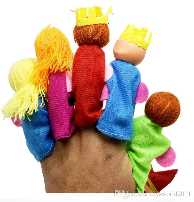 Мультфильм деревянный палец куклы королевской семьи плюшевые куклы реквизит игрушки раннего образования игрушки Рождественский подарок