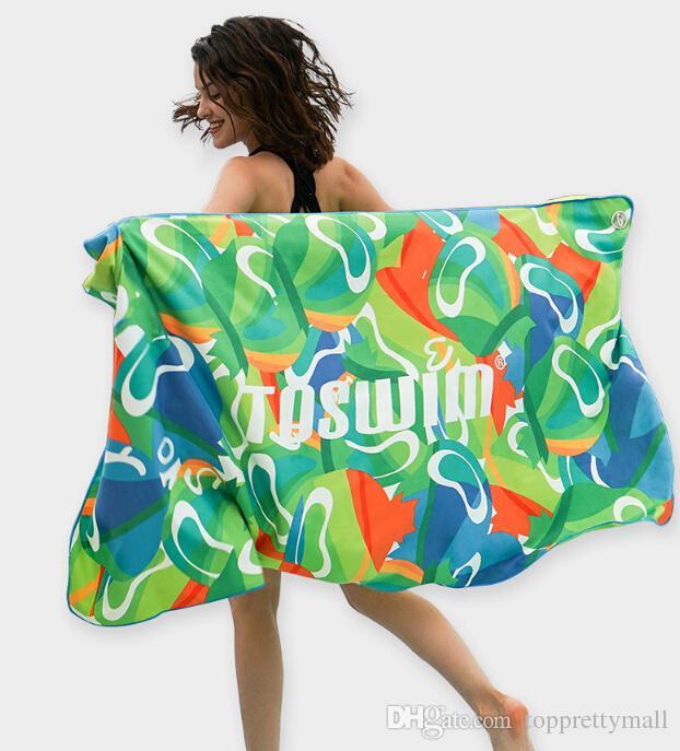 TOSWIM Plaj havlusu Büyük Boy Seyahat banyo havlusu açık hızlı kuru Yoga Mat Havlu su emici 80 * 160 cm 2018 Yetişkinler için Yeni