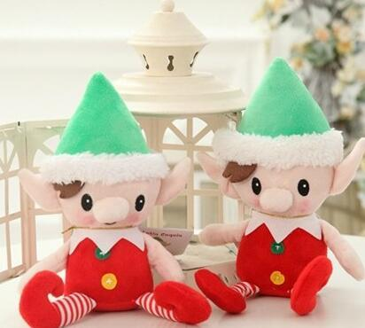 christmas santa plush toys party gift 30cm cute christmas spirit doll plush stuffed toy santa elves toys christmas decorations gga772 christmas room decor