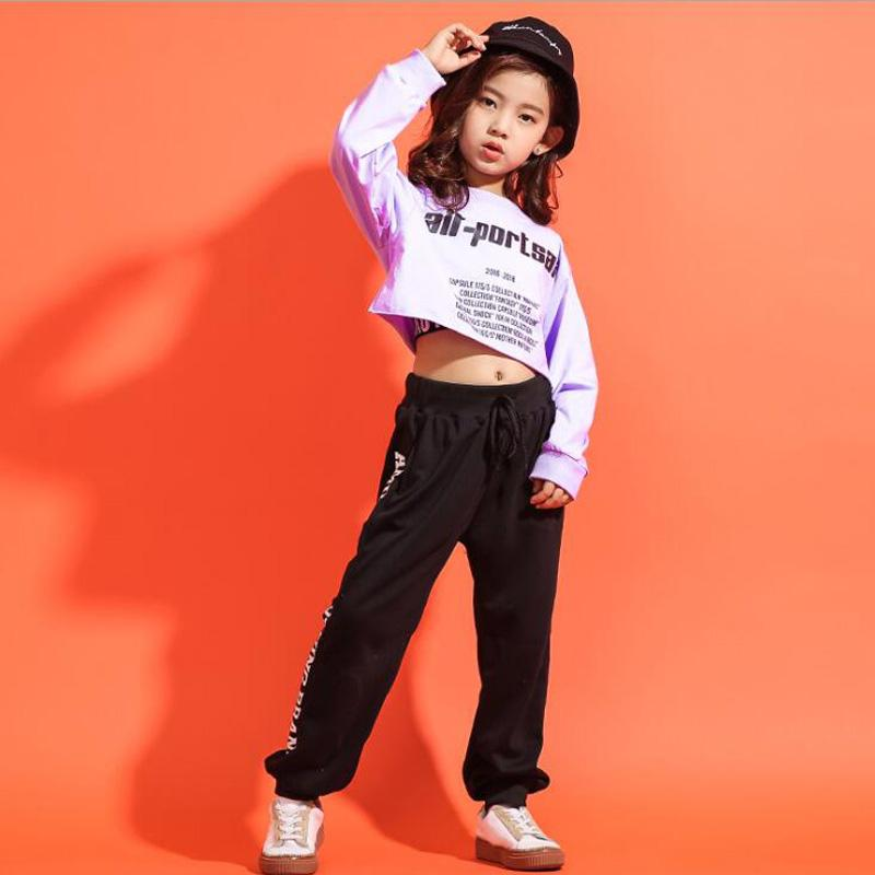 2019 Kid Cropped Sweatshirt Shirt Jogger Pants Hip Hop Clothes Suits