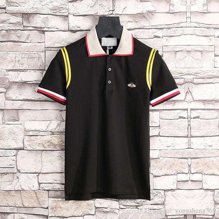 Runway Light Cotton polo con camiseta G stripe para hombre New arrival Italy design brand contraste polo camisa polo hombre moda ow poloshirt