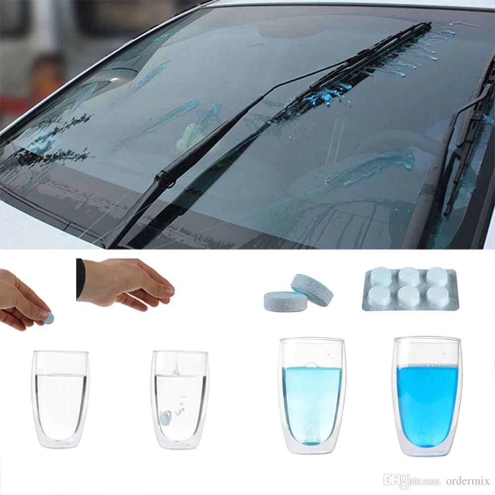 6 unids / pack limpiador de cristales Auto limpieza de cristales de coches Solid Wiper Fine Seminoma limpiaparabrisas del coche parabrisas de limpieza accesorios para el coche