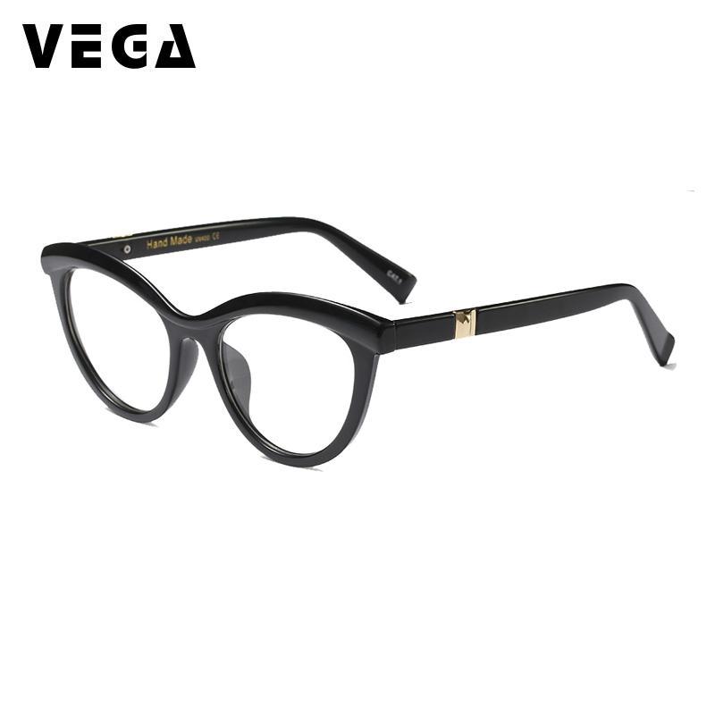 c9db0cd40f1 2019 VEGA New Fashion CatEye Glasses Frame Ladies Women Eyeglasses Frames  Women Cat Eye Brand Design Clear Lenses Black Leopard 214 From Fengzh