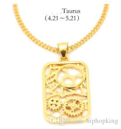Wholesale 316l Steel Pendant Birthday Jewelry Leo Zodiac Sign