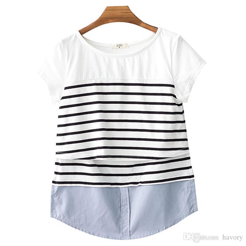 14dd58be5518 Acquista Top Di Allattamento L allattamento Maternità Vestiti  L allattamento Top Gravidanza T Shirt Le Donne In Gravidanza Abbigliamento  Madre Usura Estate ...