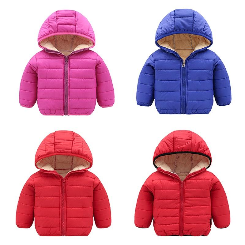 057f9d375 Baby Boys Jacket 2018 Autumn Winter Jacket Coat Kids Warm Thick Hooded  Children Outerwear Coat Toddler Girl Boy Clothing