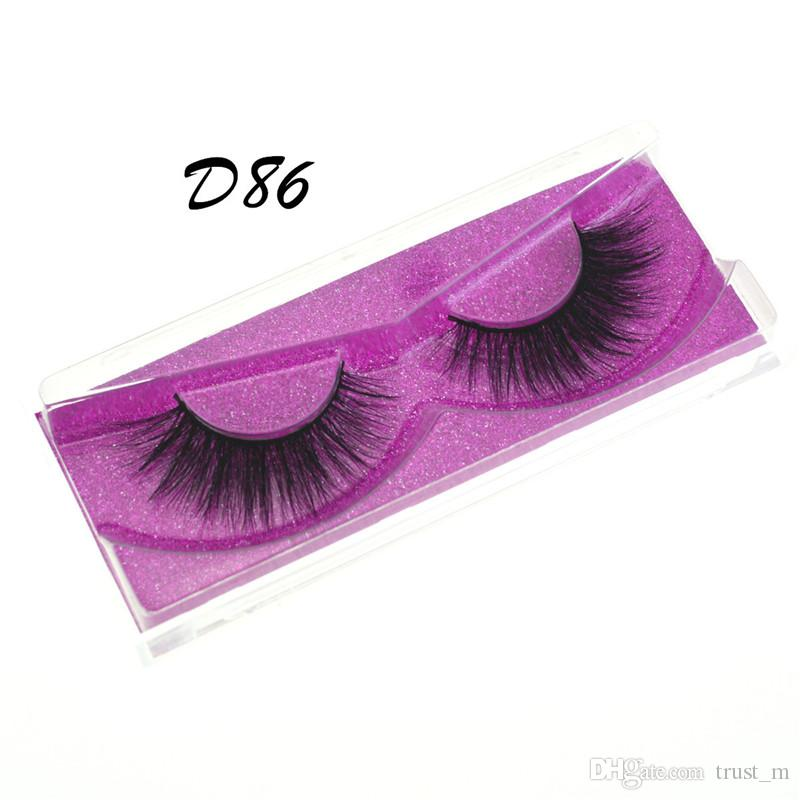 Mink eyelash False Eyelashes Natural Long Fake Eyelash Extension Thick Cross Faux 3d Mink Eyelashes Eye Makeup 7style