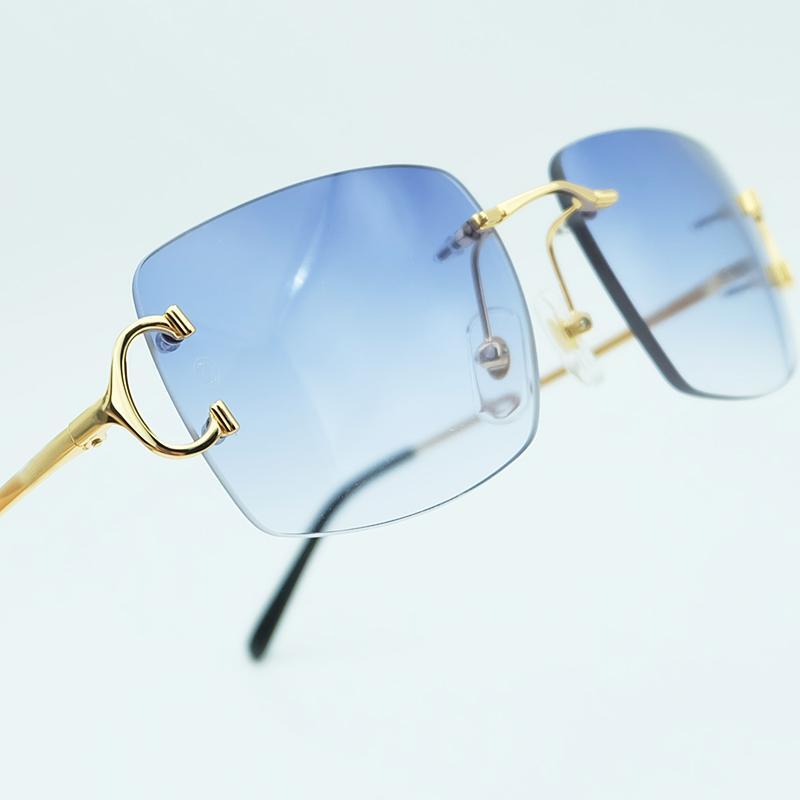 3d9737ebf Compre Luxo Quadrado Óculos De Sol De Alta Qualidade Homens Óculos De Sol  Mulheres Beleza Azul Lente Popular Partido Óculos De Condução Sombra Óculos  De Sol ...
