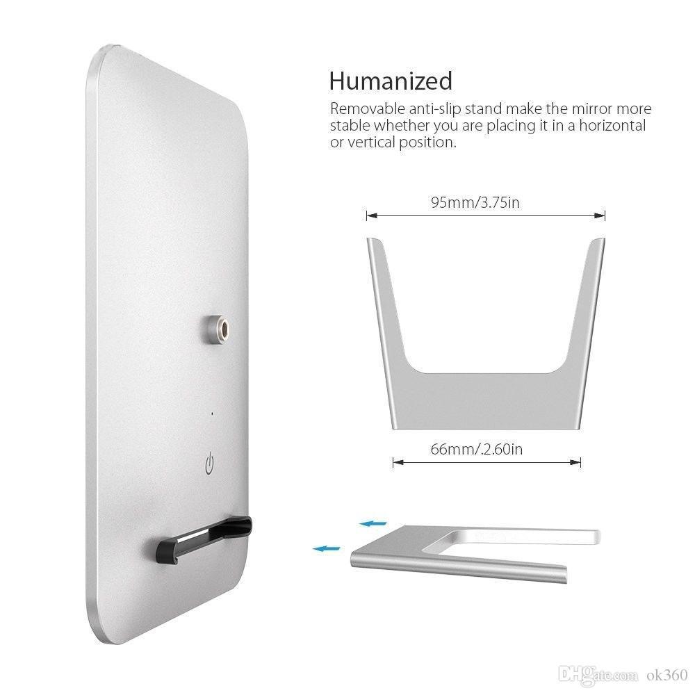 Перезаряжаемый светодиодный косметический макияж сенсорный экран зеркало портативный ночник настольная лампа составляют свет зеркало сенсорная панель карманный инструмент