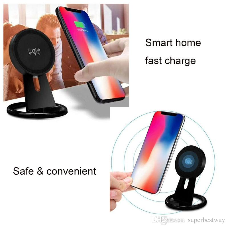 Wireless Charger Adjustable Qi Wireless Charging Stand Pad for Apple iphone 8 X Plus Samsung MR174