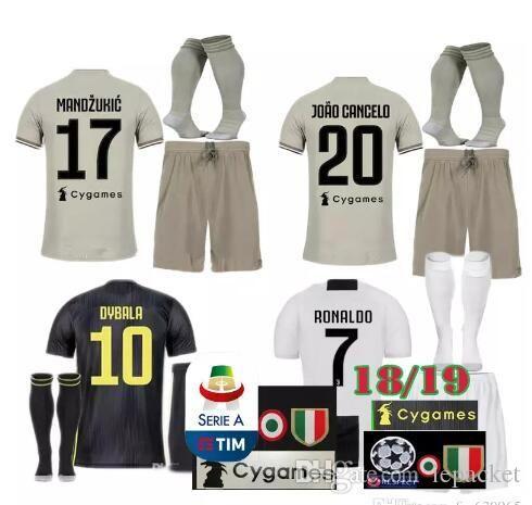 look for bc1e3 8a0a3 juventus soccer Jersey Kit 2018/19 RONALDO DYBALA HIGUAIN DANI ALVES PJANIC  Marchisio 2018 2019 soccer Shirt uniforms kit