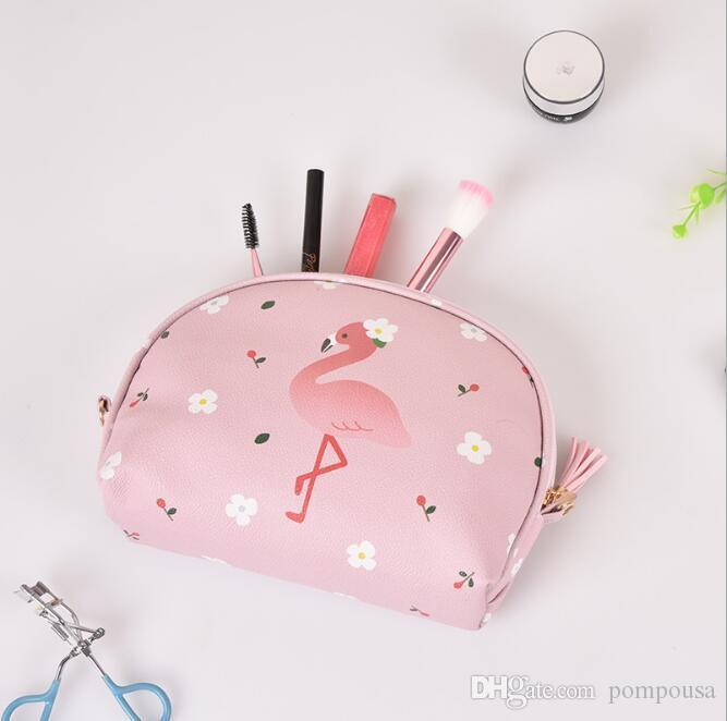 5049cdb3e1de Cartoon cosmetic bag travel waterproof large capacity smart convenient  storage bag with cute makeup bag 2pcs