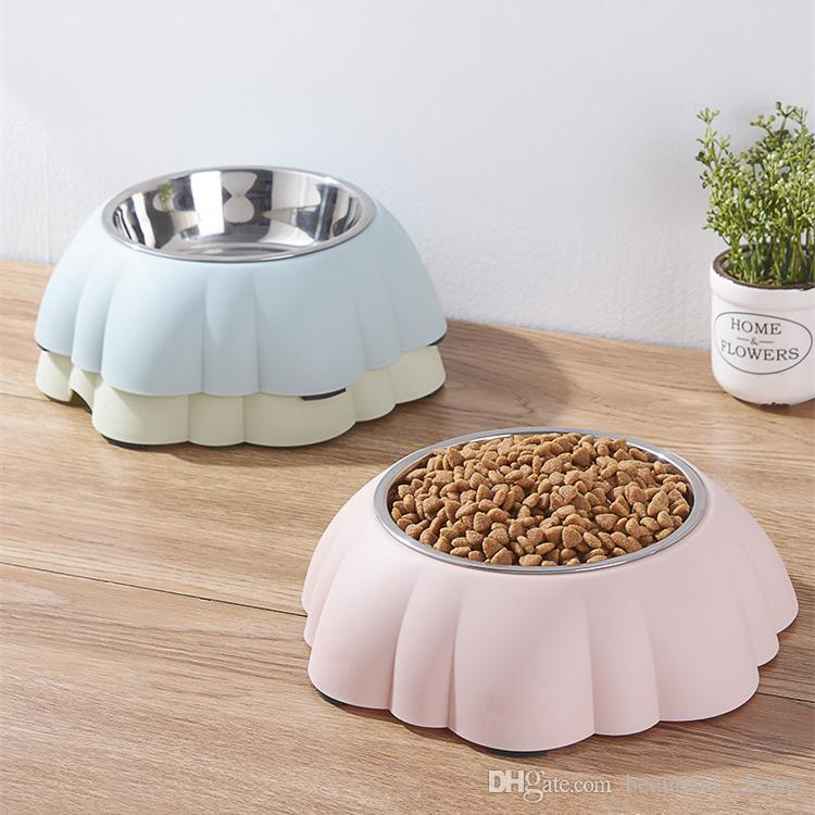 Pet Products Colorful Stainless Steel Dog Feeding Bowl Cat Puppy Food Drink Water Dish