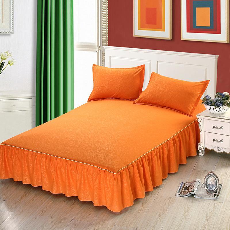 Acquista Gonne A Fiori Arancioni Solide Camera Da Letto Dorm St21 ...