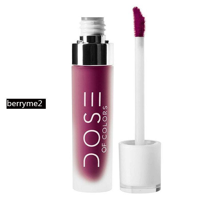 New Hot Dose Of Colors Liquid Matte Lipstick Waterproof Lip Gloss Lipgloss beauty lipstick DHL shipping+Gift